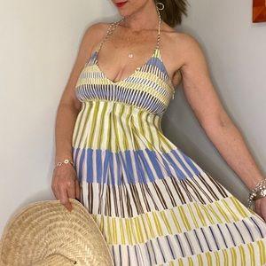 Massimo Dutti halter maxi boho dress size 6 NWT